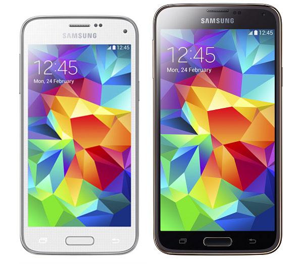 Comparer Samsung Galaxy Mini S5 Vs Samsung Galaxy S5